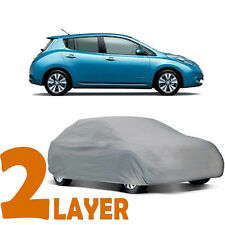 TRUE 2 LAYERS GRAY FITTED CAR COVER OUTDOOR WATER SUN RESISTANT for NISSAN LEAF