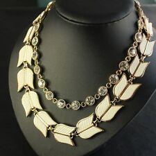 Necklace Double Chain Jade White Tulip Retro Vintage Baroque Original FUN 3