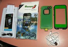 Redpepper waterproof case iPhone 5/5s/SE, Green and Black, with free charge wire