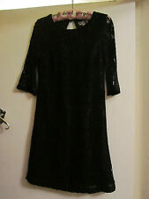 Short Black Lace Lipsy Party Dress in Size 6 - NWOT