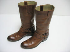 FRYE Women's Western Style Distressed Brown Harness Ring Boots Size 7 Narrow