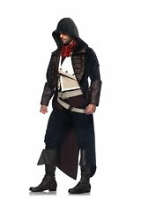 Leg Avenue Mens Assassins Creed 7 Piece Arno Deluxe Costume Cosplay, Charcoal/Br