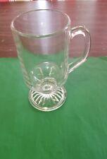(One) 10 oz. Elegant Clear Irish Coffee Mugs/Cup Libbey