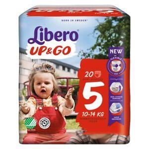Pannolini Libero Up&Go 5 (10-14 kg) 1 pacco (20 pz) o 4 pacchi (80 pannolini)