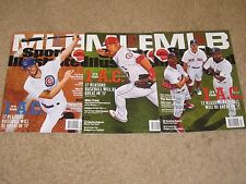 (3) Sports Illustrated 2017 Baseball Preview Benintendi Trout Cubs Bryant Betts