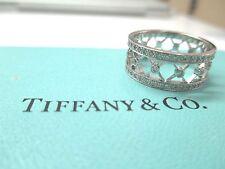 Tiffany & Co. Voile Platinum Diamond Weave Women's Wedding Band Ring Size 6.5