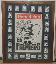 CARLTON 1995 Premiership Tribute WEG Poster & Premiership Weg card set *Signed*