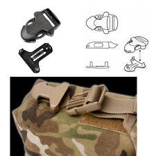 4 x 20mm ITW Nexus Nero Militare Surface Mount Fibbie (FAI DA TE Tactical