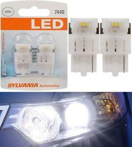 Sylvania Premium LED Light 7440 White 6000K Two Bulbs Rear Turn Signal Replace