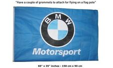 Big NEW BMW FLAG BANNER SIGN BLUE MOTORSPORT POWER 3x5 FEET M5 M6 M3