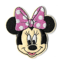 Minnie Mouse - Disney - Cartoon - Pink & White Bow - Embroidered Iron On Patch B