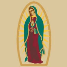 "Mary Guadalupe Tapestry -Decorative Wall Hanging-Bedspread-Lt Throw 90""x100"" New"