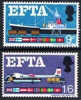 GB 1967 Commemorative Stamps~EFTA~Phosphor~Unmounted Mint Set~UK Seller