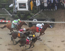 JUSTIFY 2018 PREAKNESS STAKES WINNER FINISH 11X14 PHOTO