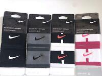 Nike Dri-Fit Stealth Singlewide Wristbands Tennis Gym Sports Nikecourt