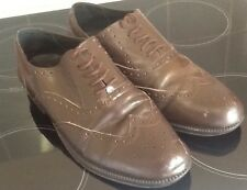 Mens CLIFFORD JAMES Brown Genuine Leather Lace Up Brogue Shoes UK 10 EU 44.5