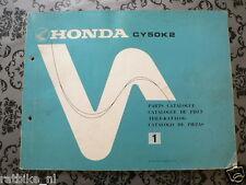 HONDA CY50K2 PARTS CATALOGUE NO 1, TEILE KATALOG 1978, CY 50 K2,CATALOGUE DE PIE
