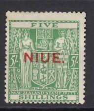 Niue 1931 5s Green SG52 Fine & Fresh Mtd Mint