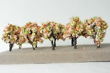 10 x FLOWERING IRON WIRE MODEL TREES 6 cm SCENERY MODEL RAILWAY N/Z SCALE #13