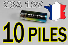 10 PILES 12V 60mAh 23A A23 23AE MN21 TELECOMMANDE PORTAIL ALARME COLLIER CHIEN