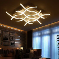 Acrylic Modern 4/6/8 LED Ceiling Lights Living Room Bedroom Dimming Chand chic
