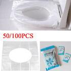 50/100pcs Einweg Toilettensitz Auflage Abdeckung WC Cover Schutz Papier DE