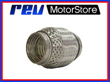 """EXHAUST FLEXI PIPE 57MM X 100MM STAINLESS STEEL UNIVERSAL HIGH QUALITY 2.25"""""""