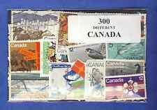 Canada 300 timbres différents oblitérés