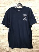 Mens M Medium Graphic T Shirt Tee Criminal Athletics Blue Gildan Golf Tournament