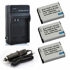 Samsung SLB-10A  Battery / Quick Charger for Samsung EX2F WB350F WB1100F WB2100