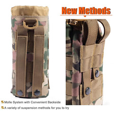 Military Drawstring Water Bottles Pouch Bag Tactical Molle Water Bottle Pouch