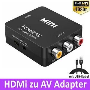 HDMI zu AV Cinch Konverter CVBS Adapter Signal 1080p Composite Video VHS DVD HD