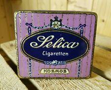 Alte Blechdose KOSMOS Dresden Zigarettendose Selica 10 Cigaretten rare old tin