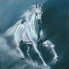 Ceramic Tile Mural Backsplash Kitchen Shower McElroy Horse Equine Art KMA031