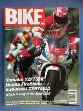 BIKE - August 1993 - Triumph Trophy 900 - Cagiva Mito Lawson II - Honda NT650