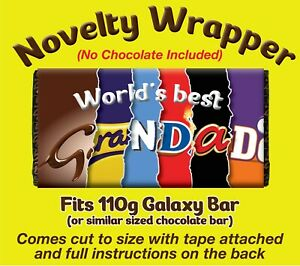 """""""Worlds Best Grandad"""" NOVELTY CHOCOLATE BAR WRAPPER (No Chocolate included)"""