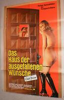 A1 Filmplakat ,DAS HAUS DER GEFALLENEN WÜNSCHE,EVA STROLL,CHANTAL ARONDEL,