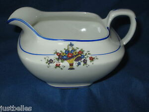 Carroliton H China CREAMER c. 1930's basket of flowers have many pieces to set