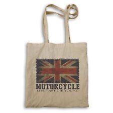 UK Flag Motorcycle Club Tote bag ee585r