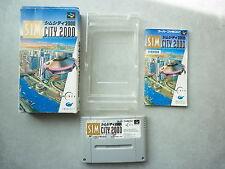 Sim City 2000 jeu Super Famicom / Super Nintendo