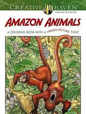 Adult Coloring: Creative Haven Amazon Animals : A Coloring Book with a Hidden...