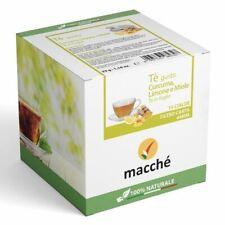 180 Dosettes Filtre Papier 44MM Macchè 'Te The Gusto Curcuma Citron et Miel Brew