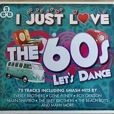 3CD NEW - I JUST LOVE THE 60's LET'S DANCE - Sixties Pop Music 3x CD Album