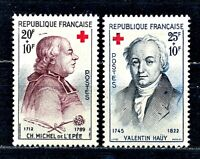 TIMBRE FRANCE  N° 1226 / 1227 CROIX ROUGE 1959    NEUF SANS  CHARNIERE