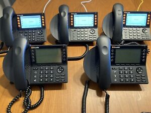 Lot of 10 Shoretel (mitel) ip480g IP phone used 630-2099-10 w/ stand and handset