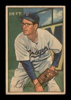 1952 Bowman Set Break # 56 Clyde King VG *OBGcards*