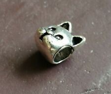 silver plated Cat Charm for Charm Bracelet.