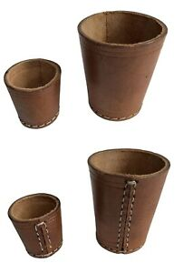 100% Real Leather Poker Bar Games Casino Shaker Dice Cup