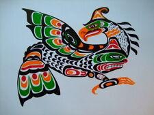 NORTHWEST PACIFIC COAST INDIAN ART PRINT THUNDERBIRD JOHN NELSON KWAKWAKA BC
