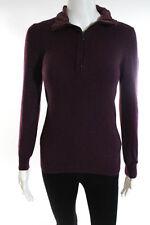 Bottega Veneta 1/2 Zip Purple Cashmere Sweater Size 40 Italian